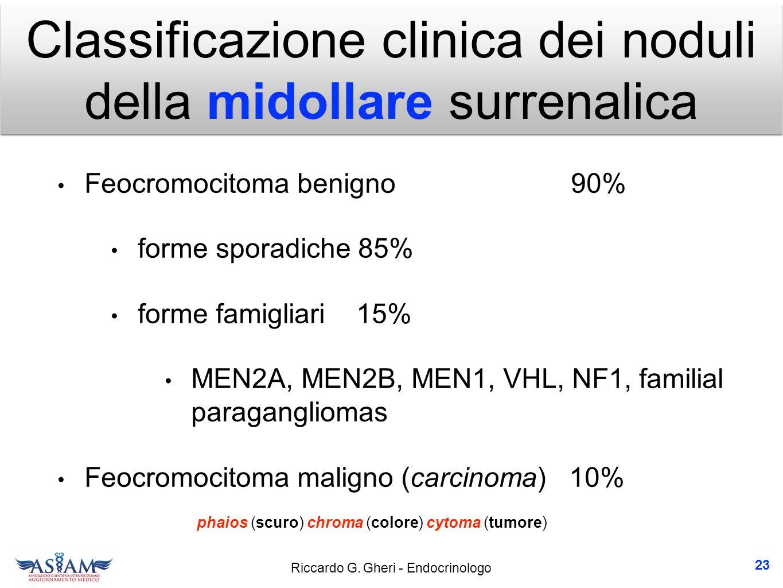 Classificazione clinica dei noduli della midollare surrenalica