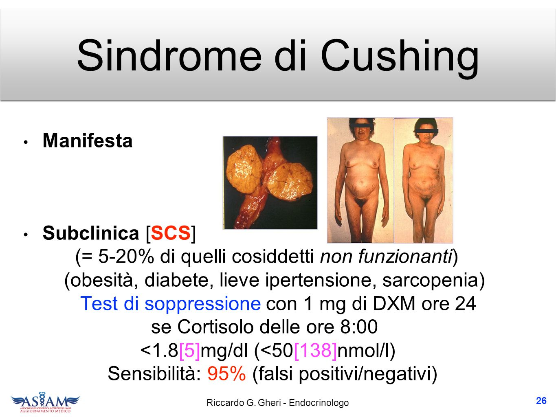 Sindrome di Cushing Manifesta