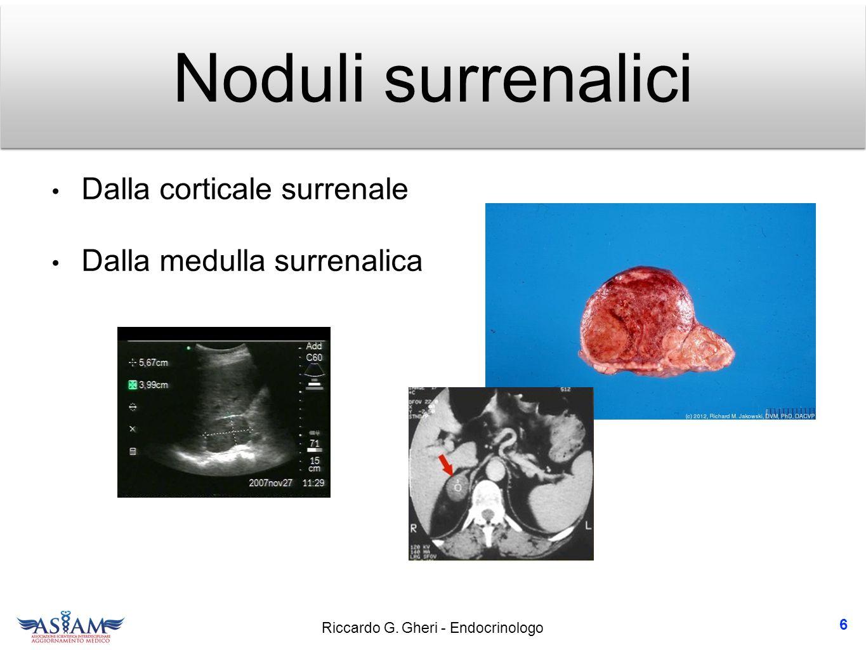 Noduli surrenalici Dalla corticale surrenale Dalla medulla surrenalica