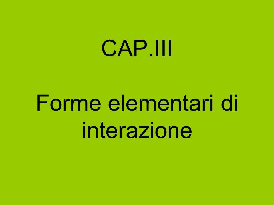 CAP.III Forme elementari di interazione