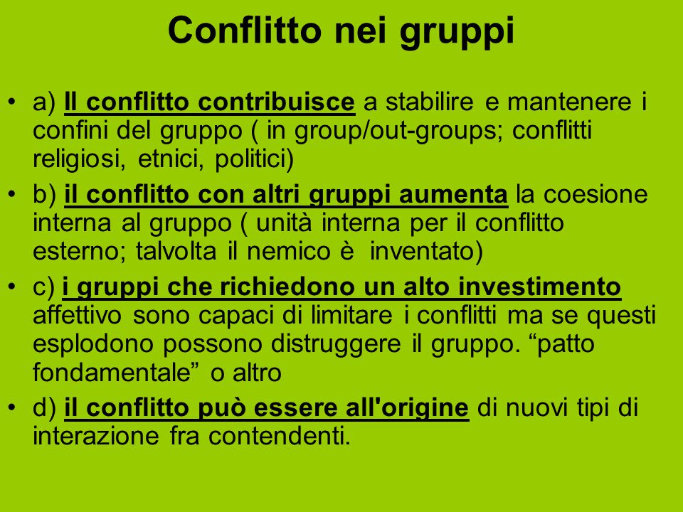Conflitto nei gruppi