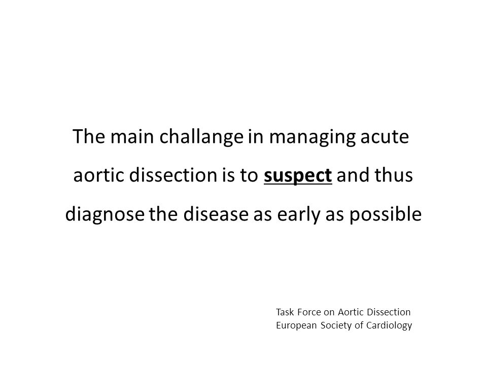 The main challange in managing acute