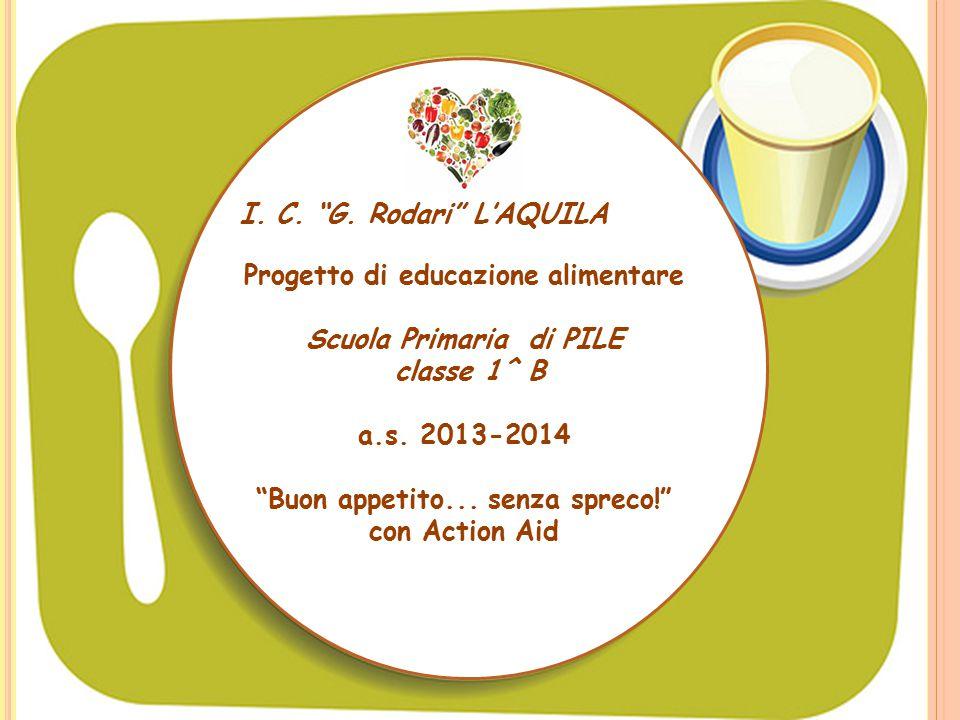 Progetto di educazione alimentare Scuola Primaria di PILE classe 1^ B