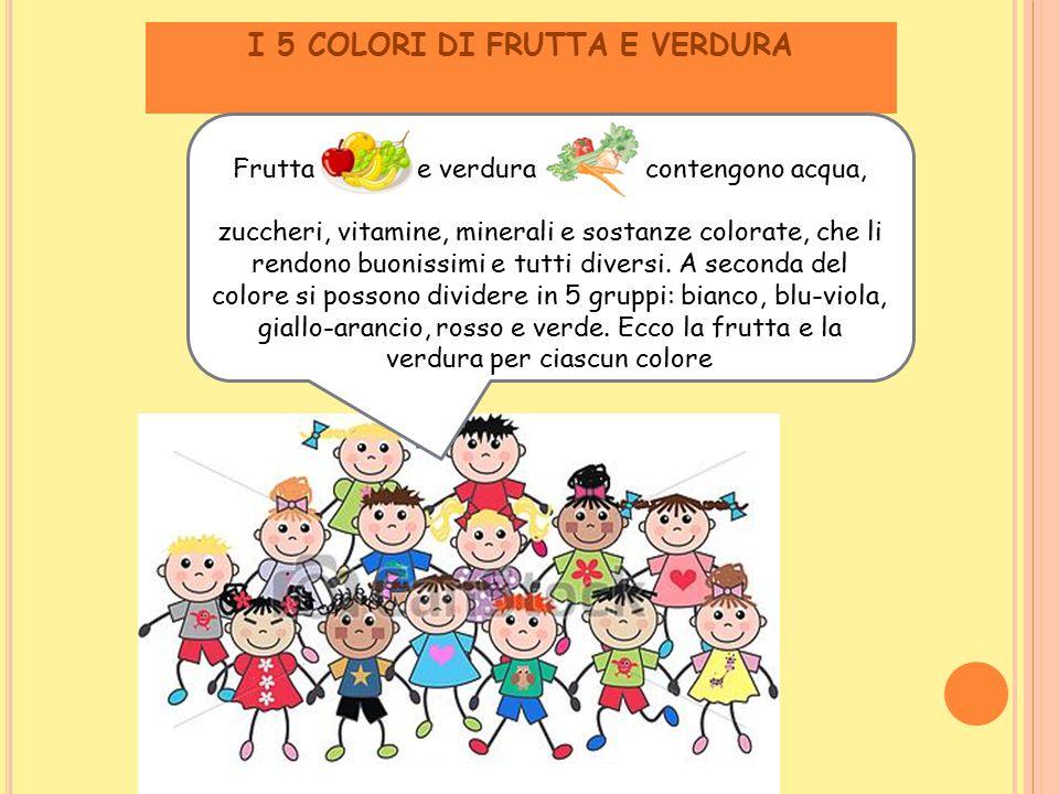 I 5 COLORI DI FRUTTA E VERDURA