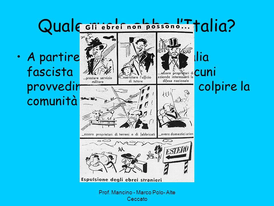 Quale ruolo ebbe l'Italia