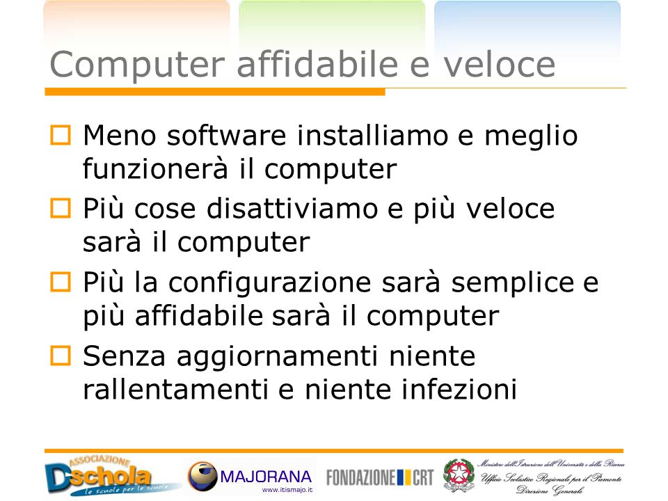 Computer affidabile e veloce