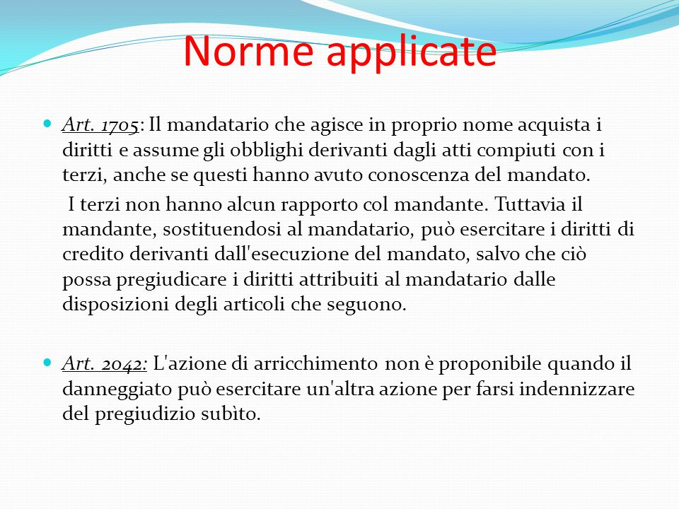 Norme applicate