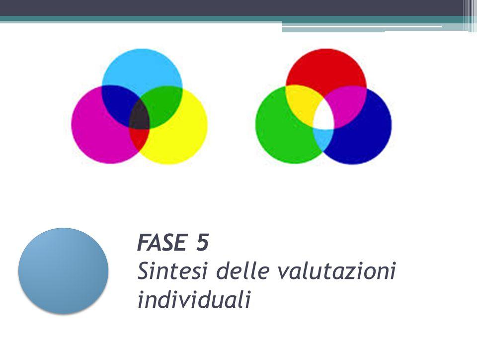 FASE 5 Sintesi delle valutazioni individuali
