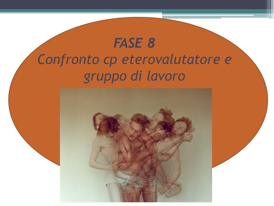 FASE 8 Confronto cp eterovalutatore e gruppo di lavoro