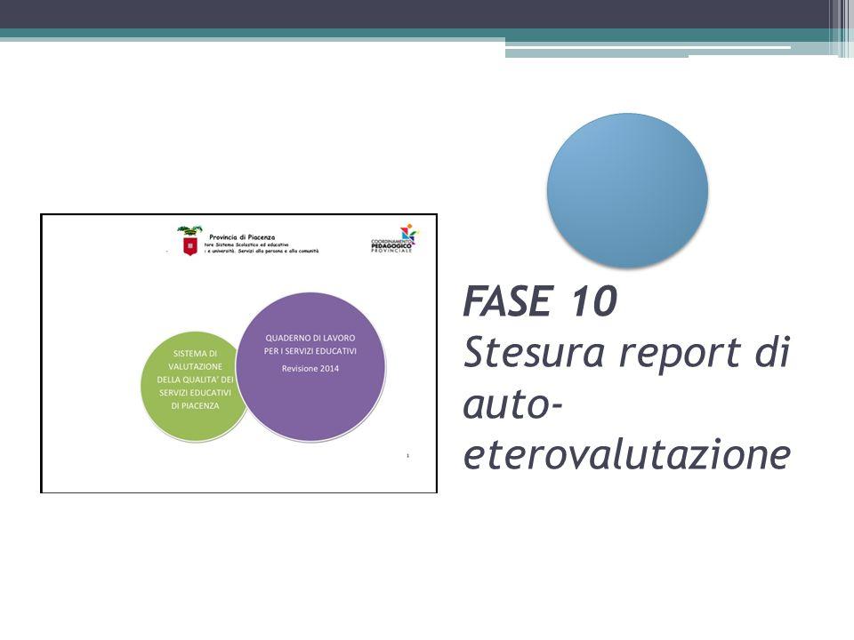 FASE 10 Stesura report di auto-eterovalutazione