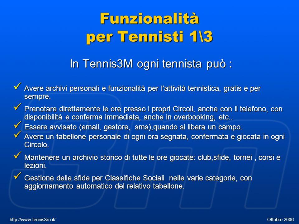 Funzionalità per Tennisti 1\3