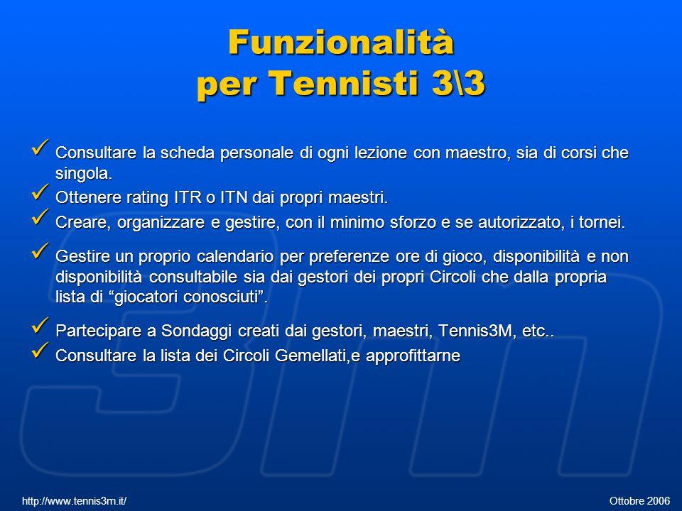 Funzionalità per Tennisti 3\3