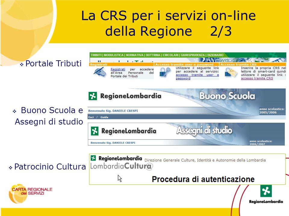 La CRS per i servizi on-line della Regione 2/3