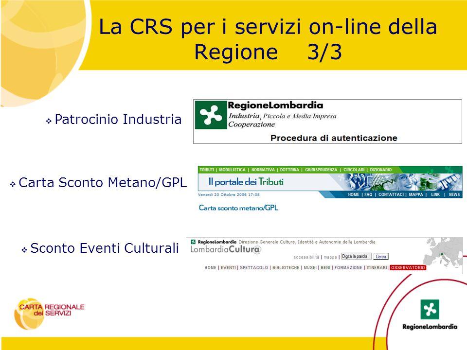 La CRS per i servizi on-line della Regione 3/3