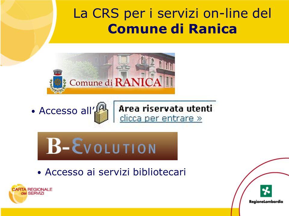 La CRS per i servizi on-line del Comune di Ranica