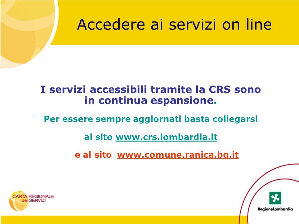 Accedere ai servizi on line
