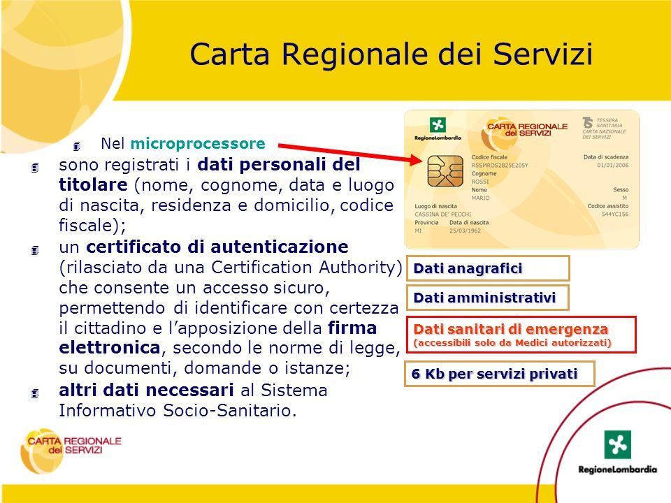 Carta Regionale dei Servizi