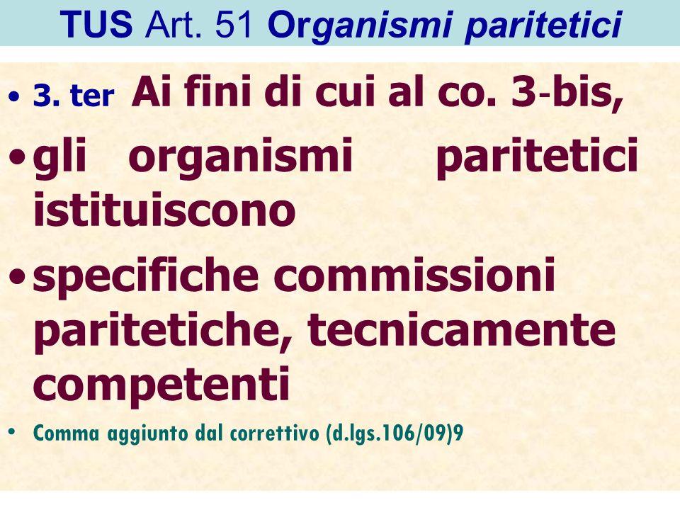TUS Art. 51 Organismi paritetici