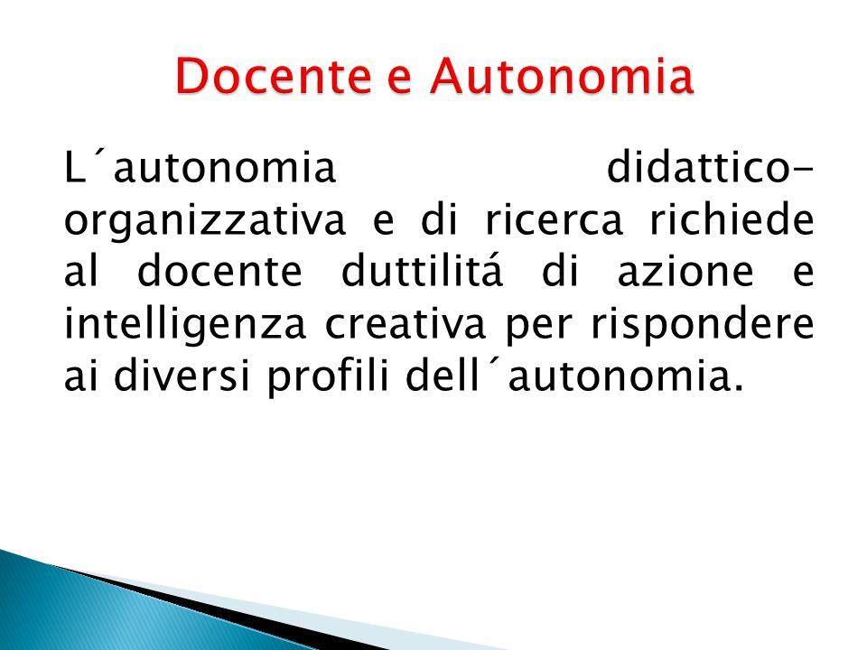 Docente e Autonomia