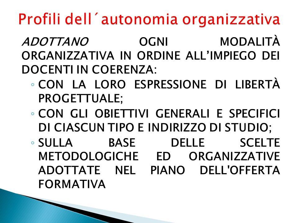 Profili dell´autonomia organizzativa