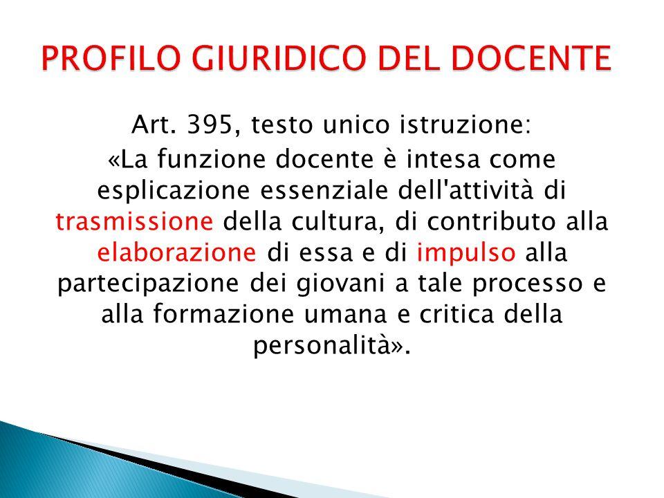 PROFILO GIURIDICO DEL DOCENTE