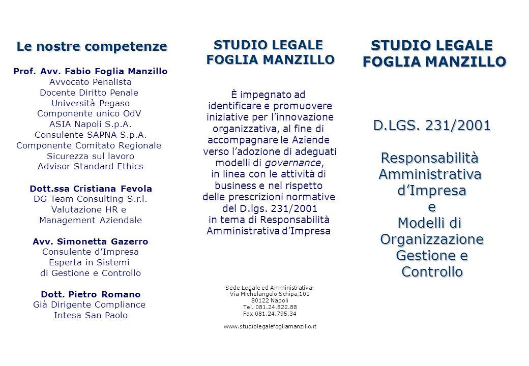 Prof. Avv. Fabio Foglia Manzillo Dott.ssa Cristiana Fevola