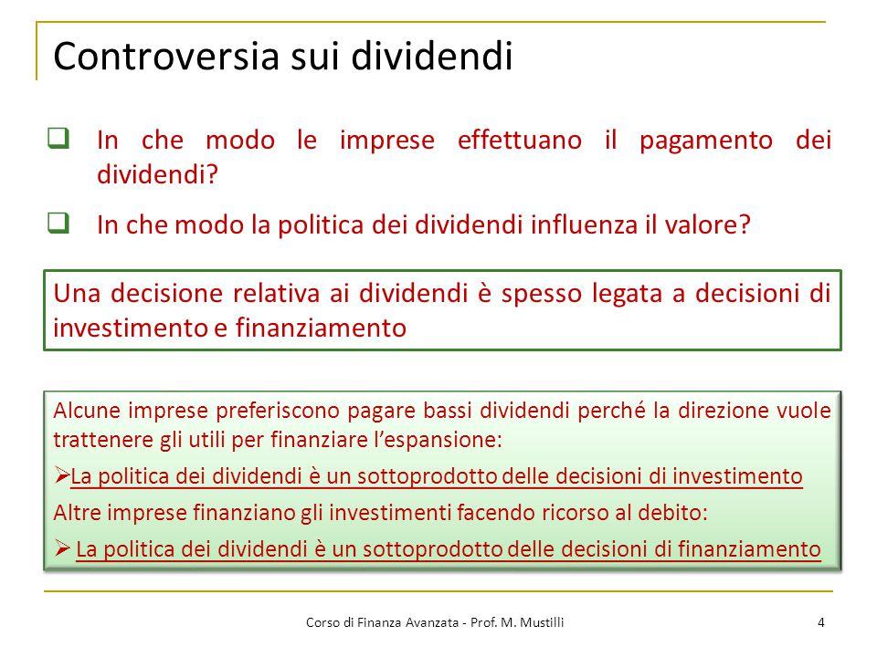 Controversia sui dividendi