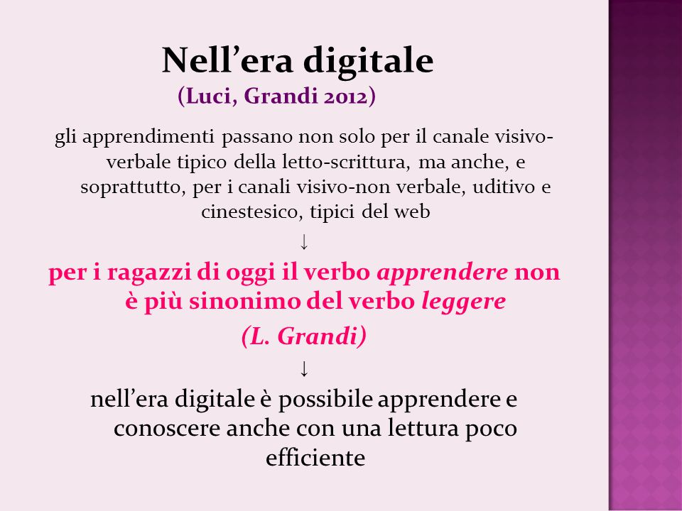 Nell'era digitale (Luci, Grandi 2012)