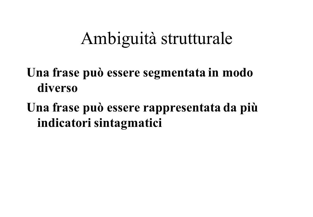 Ambiguità strutturale