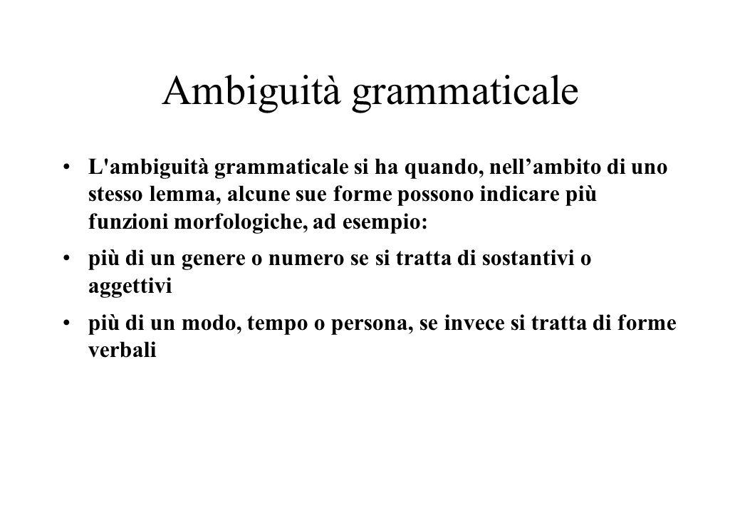 Ambiguità grammaticale