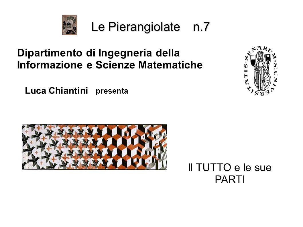 Le Pierangiolate n.7 Dipartimento di Ingegneria della Informazione e Scienze Matematiche. Luca Chiantini presenta.