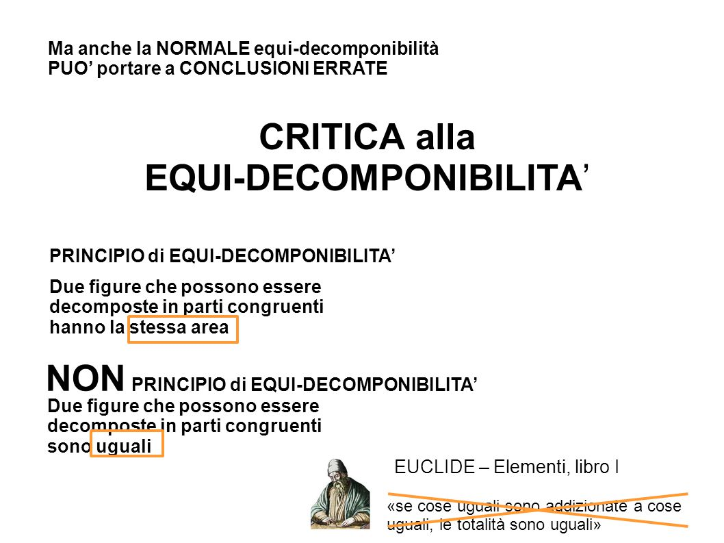 EQUI-DECOMPONIBILITA'