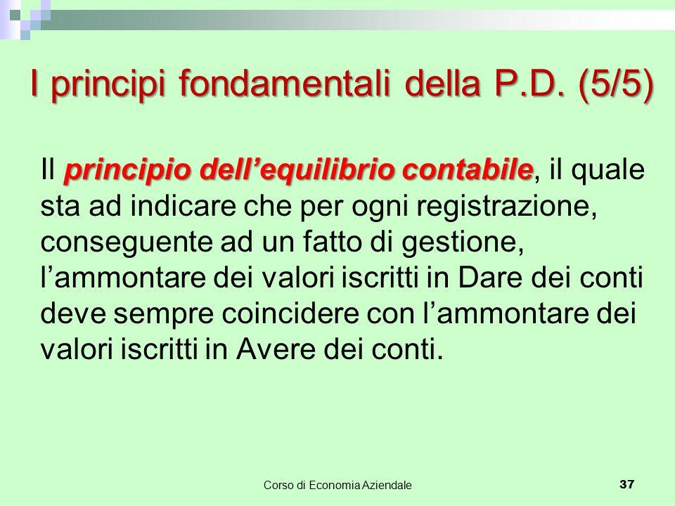 I principi fondamentali della P.D. (5/5)