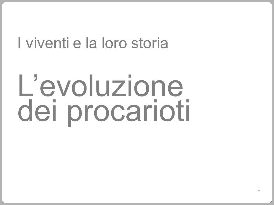 L'evoluzione dei procarioti