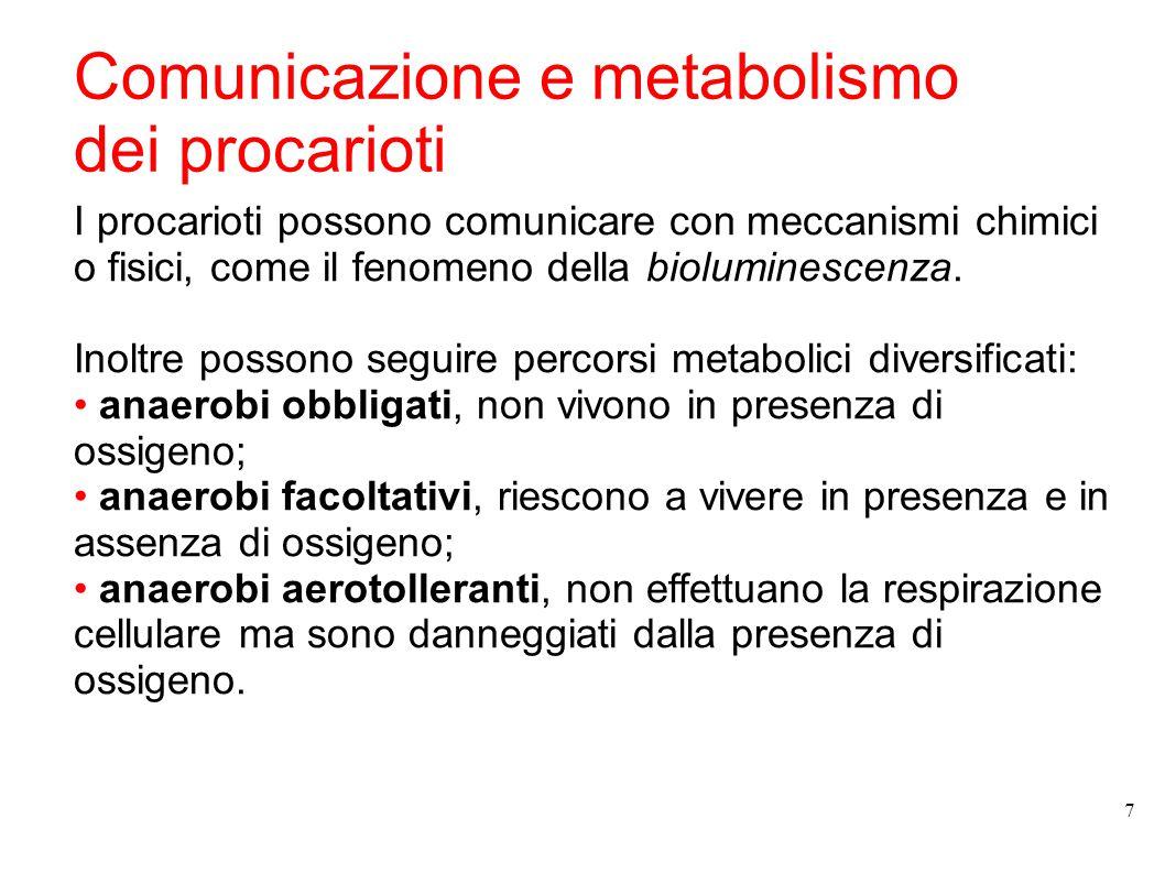 Comunicazione e metabolismo dei procarioti