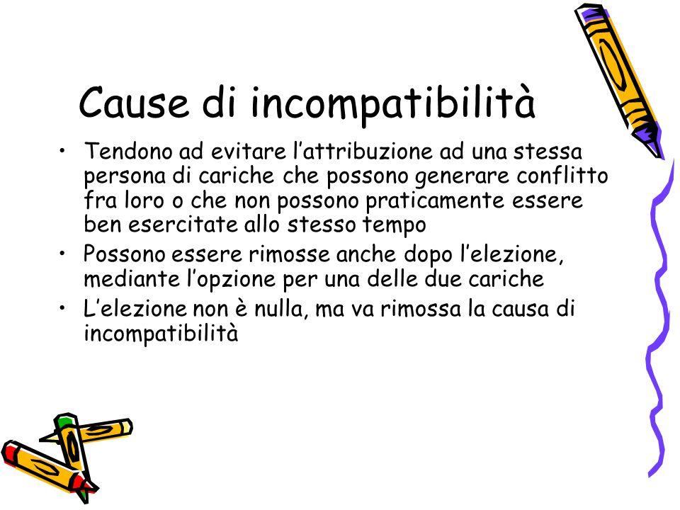 Cause di incompatibilità