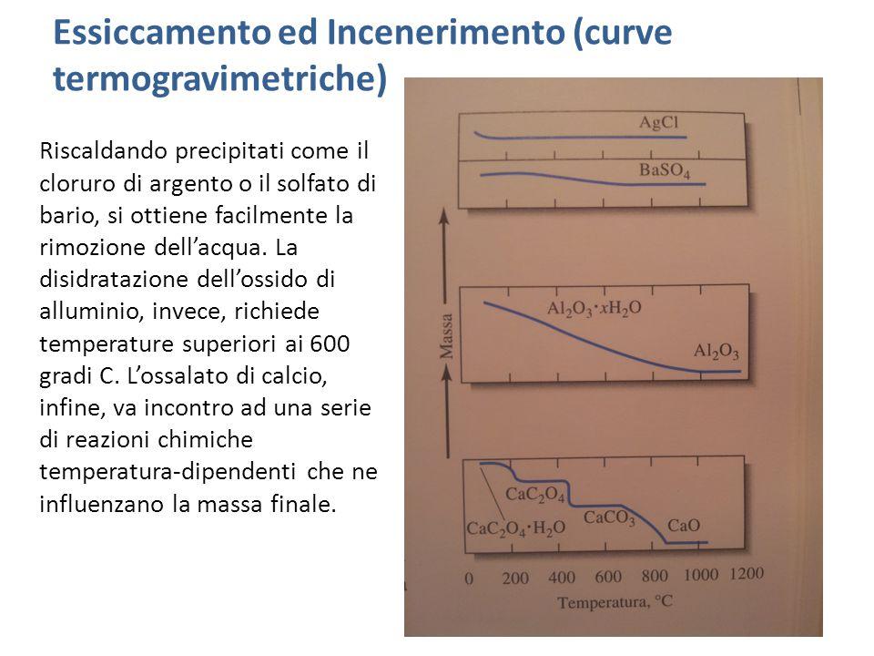 Essiccamento ed Incenerimento (curve termogravimetriche)