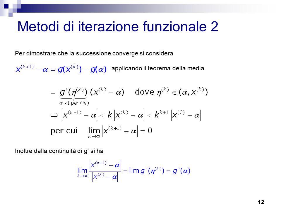 Metodi di iterazione funzionale 2