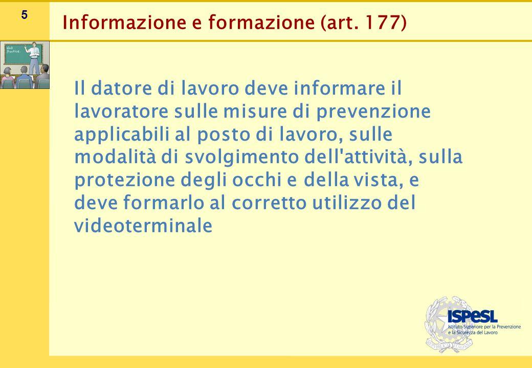 Adeguamento delle postazioni al videoterminale (art. 174, comma 3)