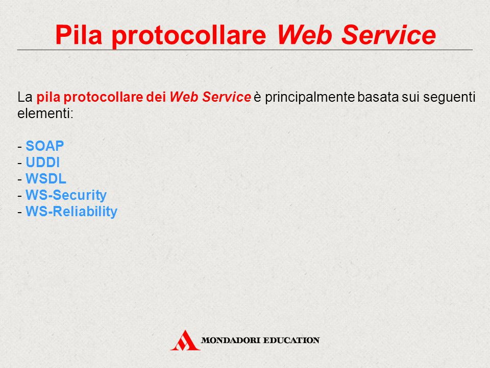 Pila protocollare Web Service