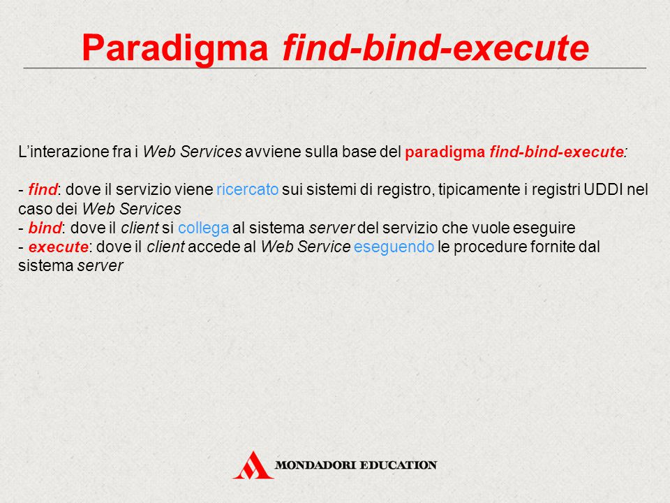 Paradigma find-bind-execute