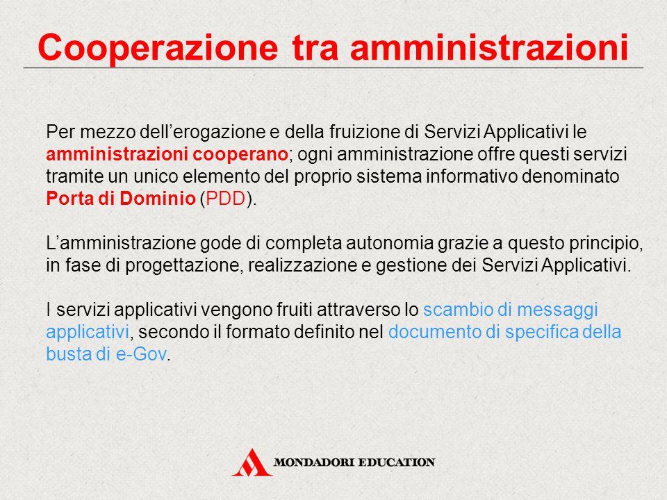 Cooperazione tra amministrazioni