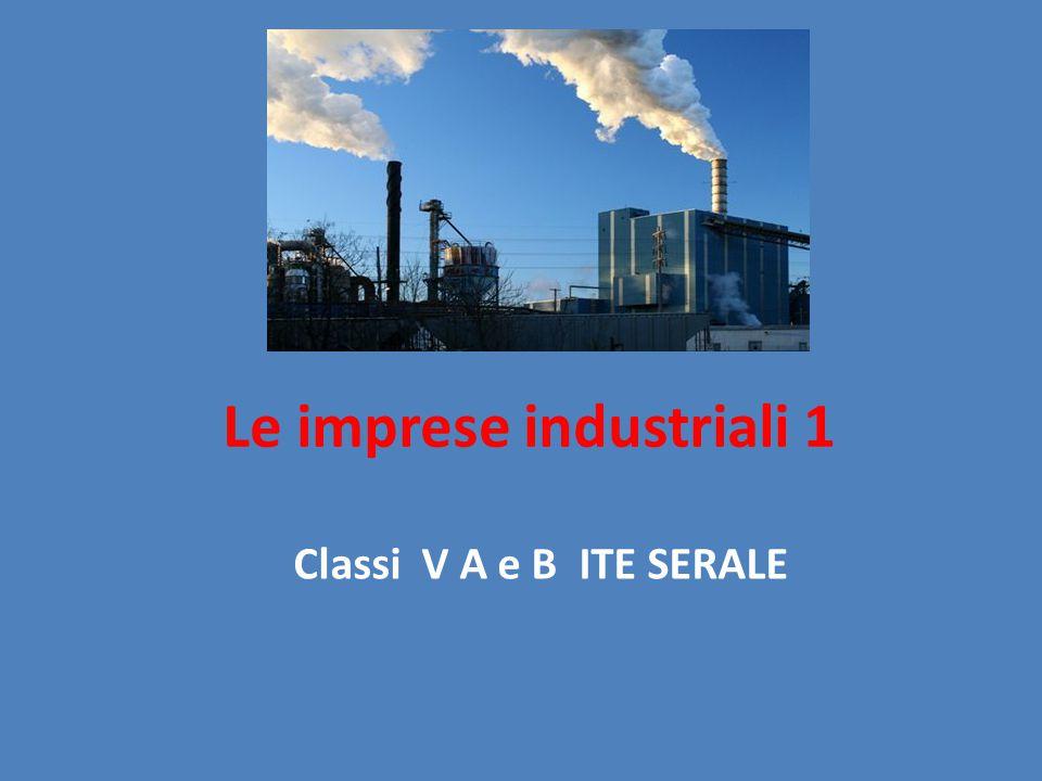 Le imprese industriali 1