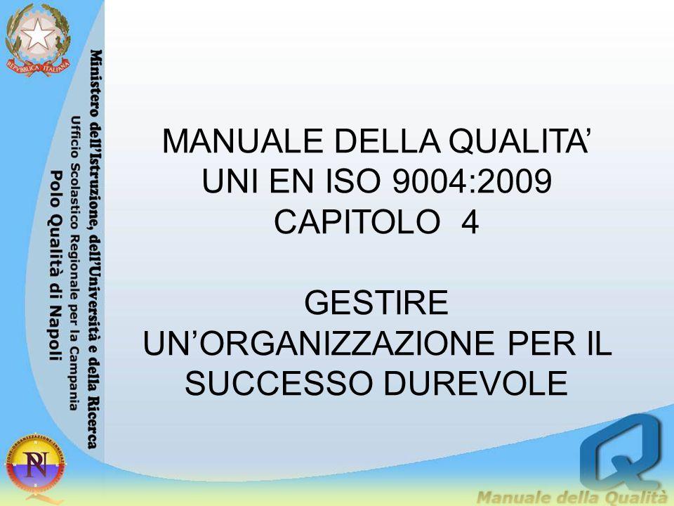 MANUALE DELLA QUALITA' UNI EN ISO 9004:2009 CAPITOLO 4