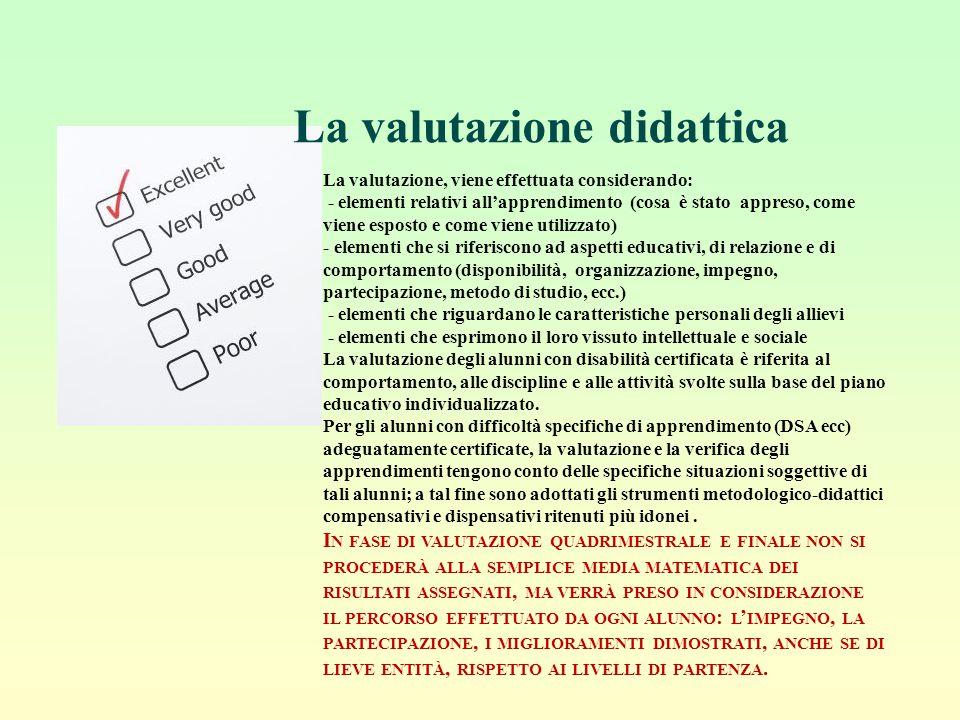 La valutazione didattica