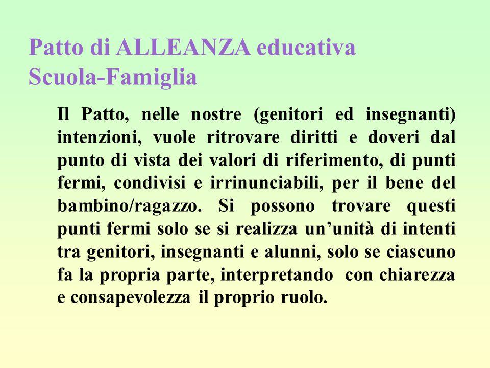 Patto di ALLEANZA educativa Scuola-Famiglia