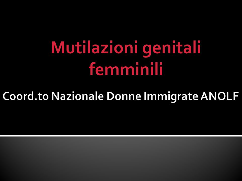 Coord.to Nazionale Donne Immigrate ANOLF