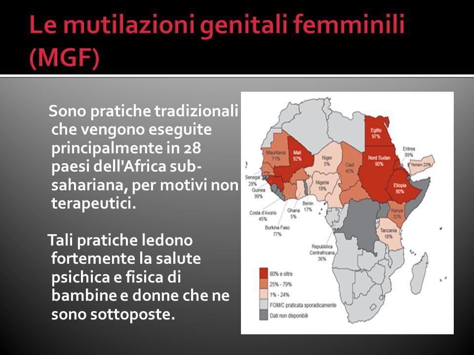 Le mutilazioni genitali femminili (MGF)