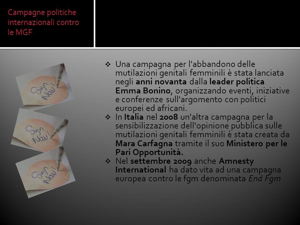 Campagne politiche internazionali contro le MGF