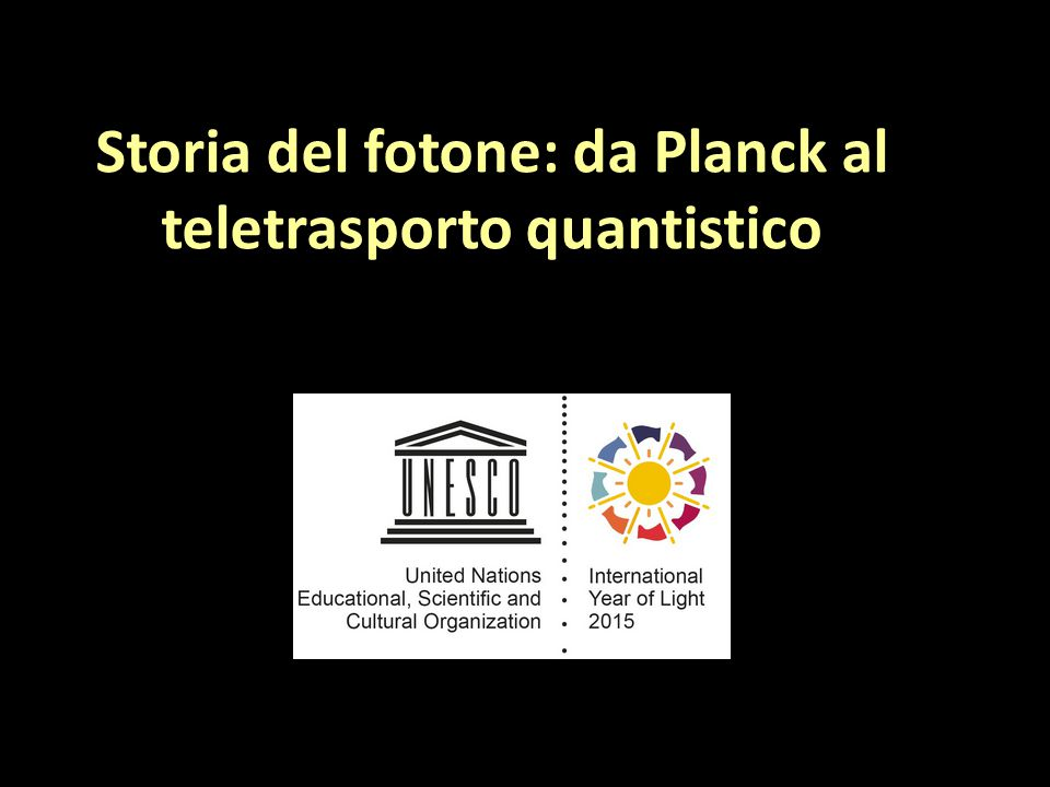 Storia del fotone: da Planck al teletrasporto quantistico